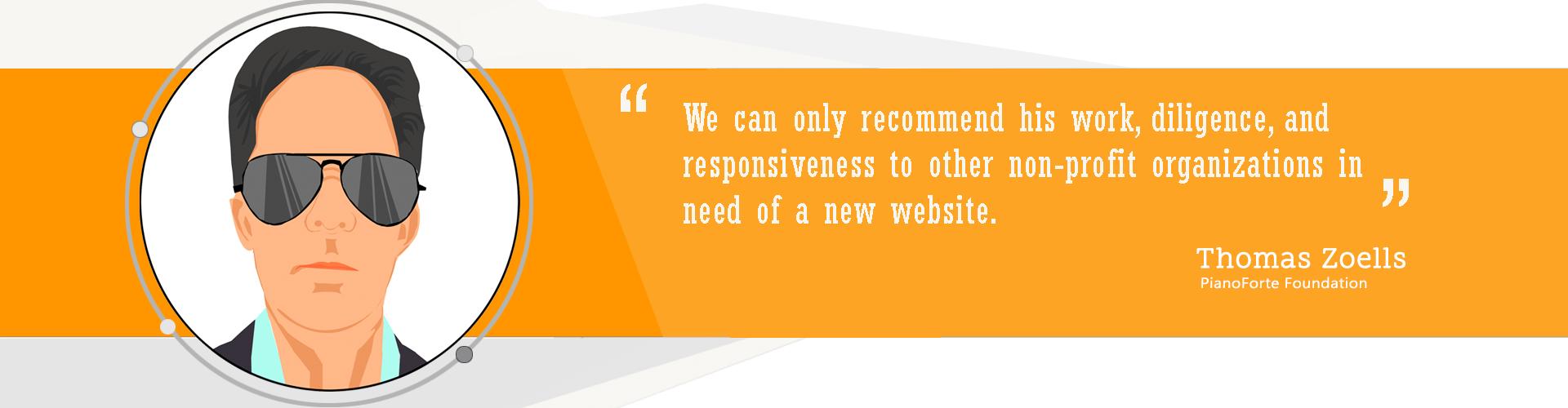 Non-Profit Websites - Testimonial